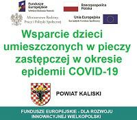 Projekty realizowane w ramach wsparcia dzieci umieszczonych w pieczy zastępczej w okresie epidemii COVID-19